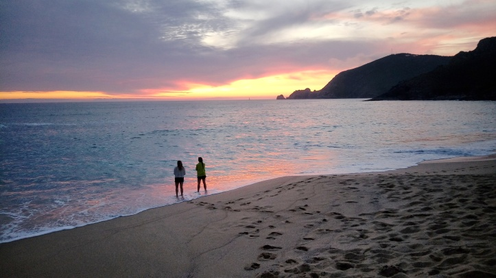 Cammino portoghese - Finisterre tramonto a MAR DE FORA