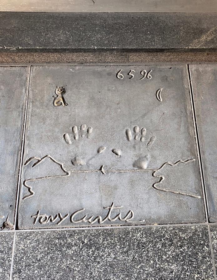 Milano nascosta - Walk of Fame - Tony Curtis