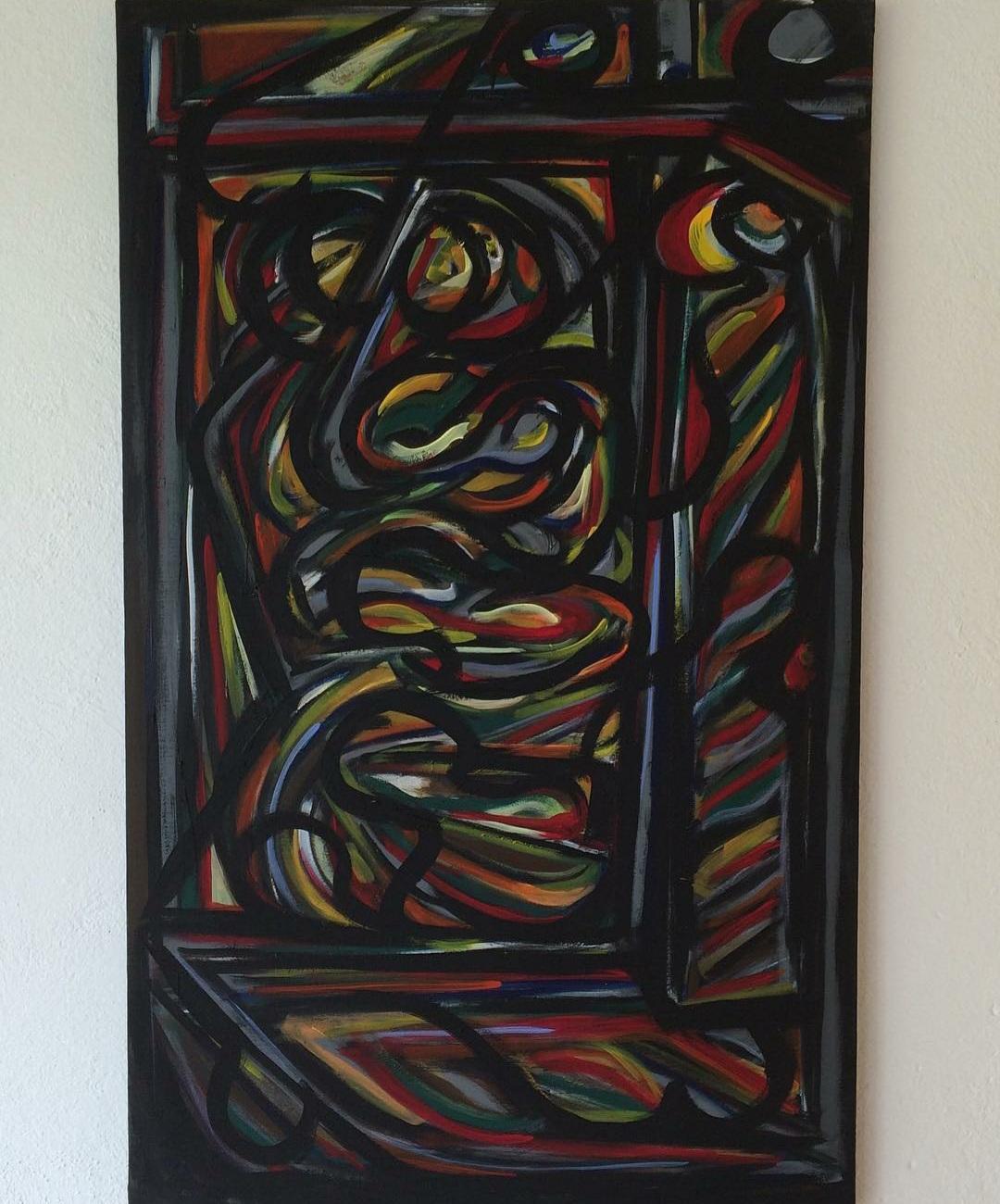 Ariel Lopez Padilla - dipinto - SILUETAS